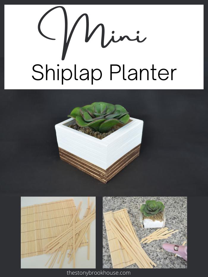 Mini Shiplap Planter