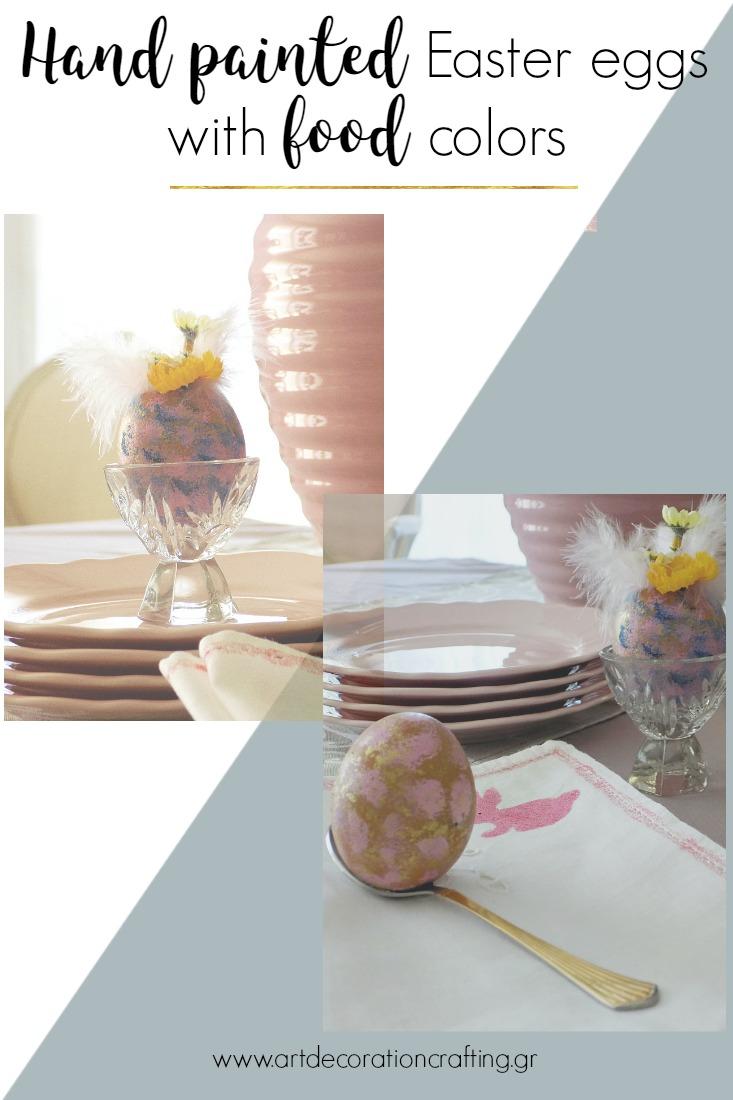 Πως μια παλιά αβγοθήκη αλλάζει εμφάνιση για να μπει στο Πασχαλινό μας τραπέζι και ζωγραφισμένα αβγά με χρώματα ζαχαροπλαστικής