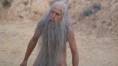 Terry Jones as a hermit