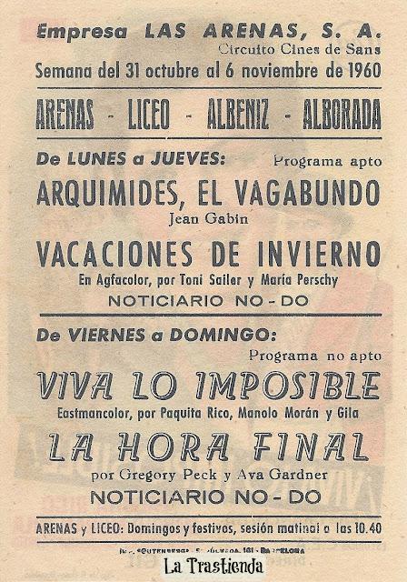 Programa de Cine - Viva lo Imposible - Paquita Rico - Manolo Morán - Gila