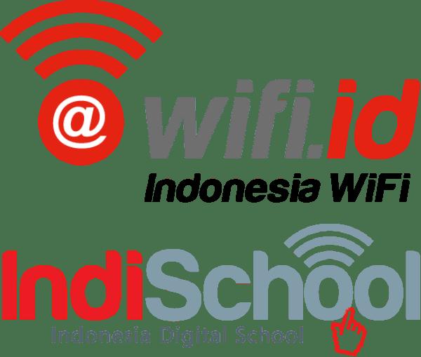 Logo WiFi id Indonesia Wifi dan indischool (Indonesia Digital School)