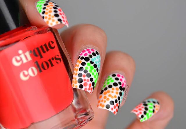 Neon Dot Nail Art