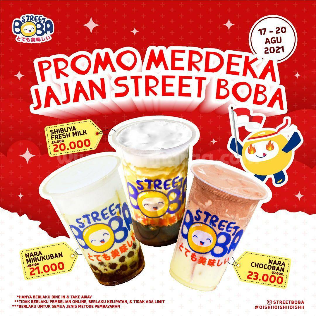 STREET BOBA Promo MERDEKA - Harga paket mulai Rp. 20.000