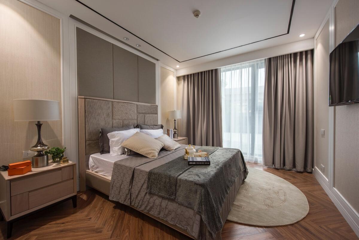 Phòng ngủ căn hộ mẫu chung cư King Palace
