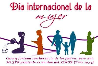 Dibujo por el Día Internacional de la Mujer a colores para niños
