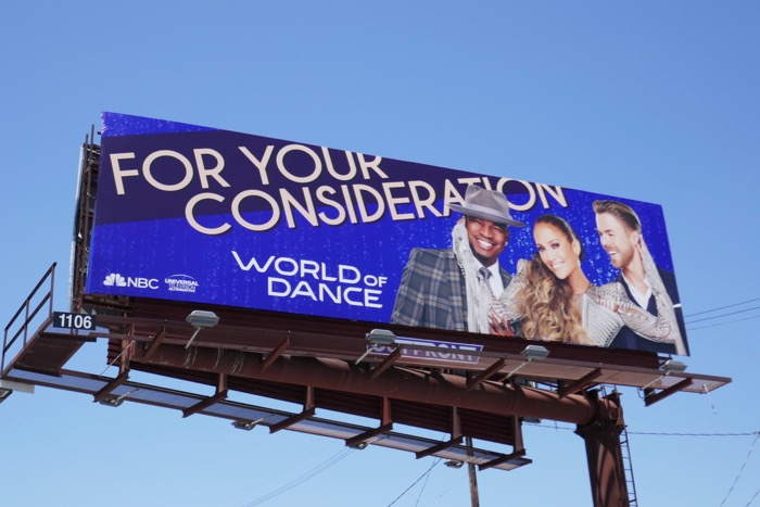 World of Dance 2019 Emmy consideration billboard
