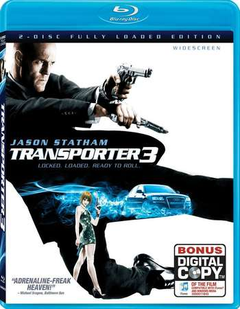 Poster Of Transporter 3 2008 Dual Audio 300MB BRRip 480p Free Download Watch Online Worldfree4u