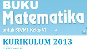 Buku Matematika K13 untuk SD/MI Kelas 6