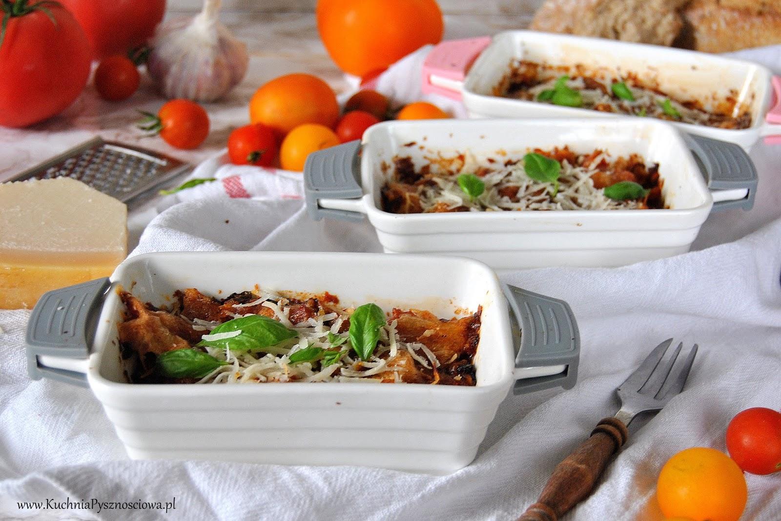 625. Bakłażany zapiekane w pomidorach (parmigiana di melanzane)