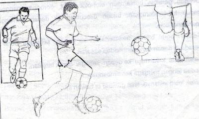 Menggiring bola dengan punggung kaki