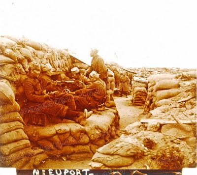 Zouaves sur le front de Nieuport-les-Bains