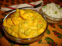 images for Almond Mutter Paneer / Badam Mutter Paneer / Badam Matar Paneer
