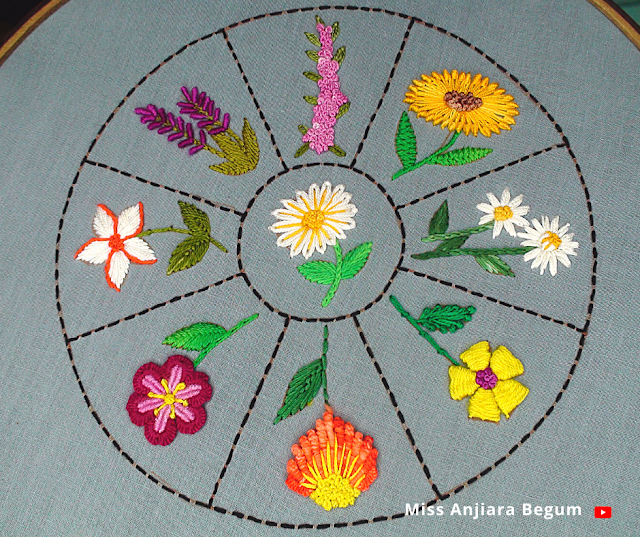 Eight little cute hand embroidery design for freshers, how to embroider tiny wild flowers