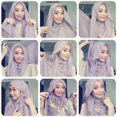 tutorial gaya hijab terbaru simple casual dan glamour