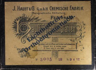 Karton für Hauff-Trockenplatten 9x12 cm - Nummer: 3005 - um 1900