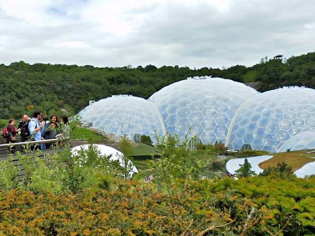 A glimpse of the biomes at the Eden Project, Cornwall