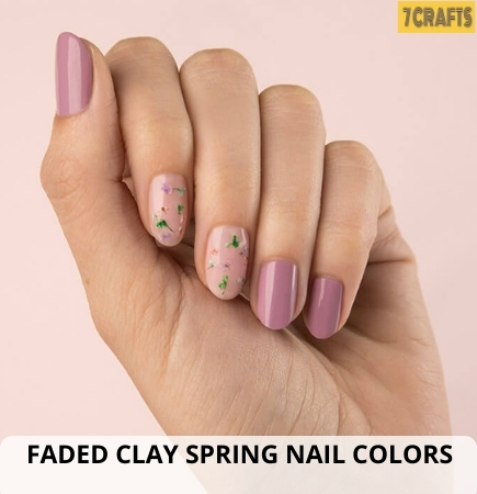 Faded Clay Summer nails