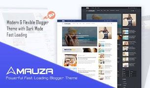 Modelo de blogger responsivo de Mauza Safelink