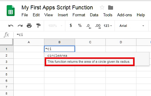 Typing The Function Name