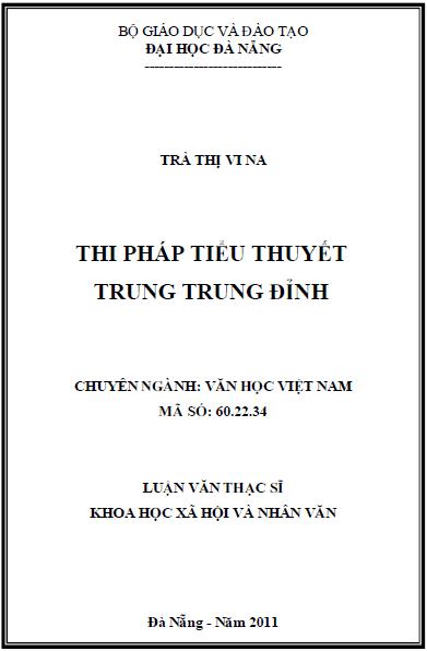 Thi pháp tiểu thuyết Trung Trung Đỉnh