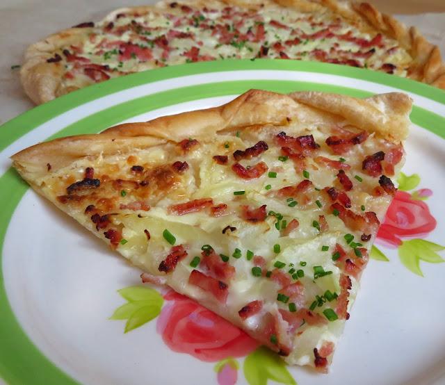Alsation Bacon & Onion Tart