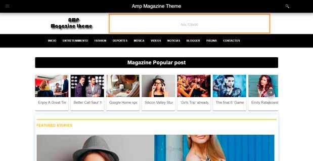 Premium AMP themes AMP Magazine Theme
