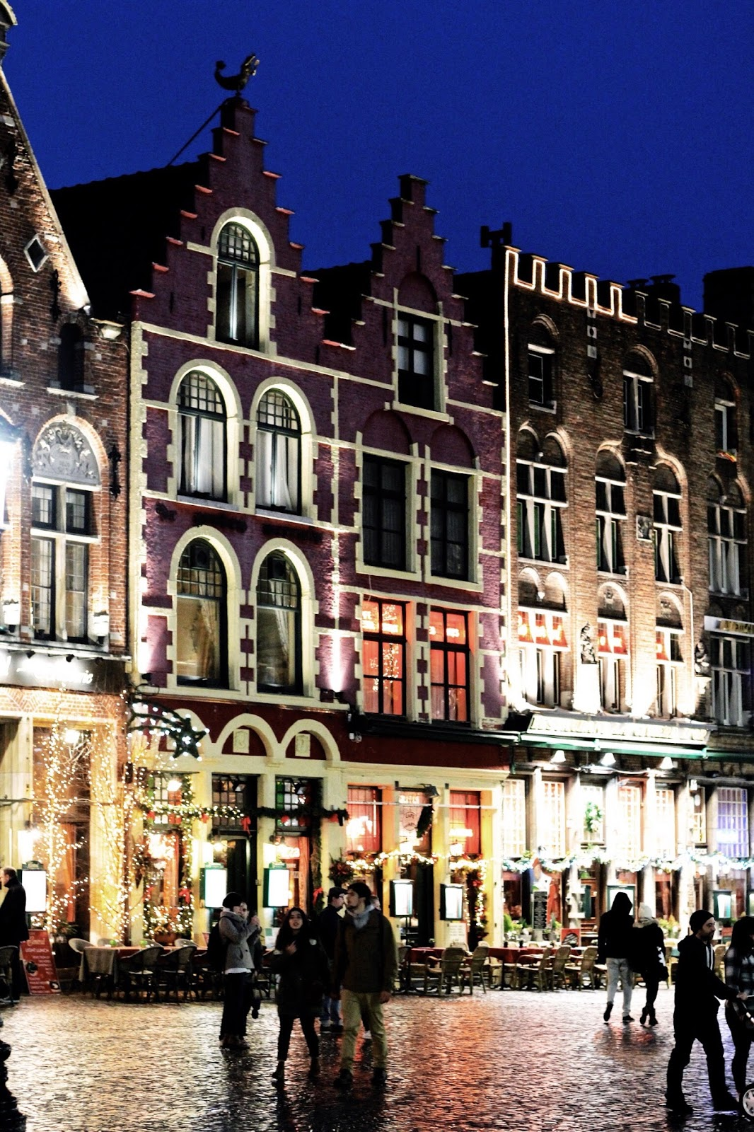 Medieval Architecture in Bruges at Christmas