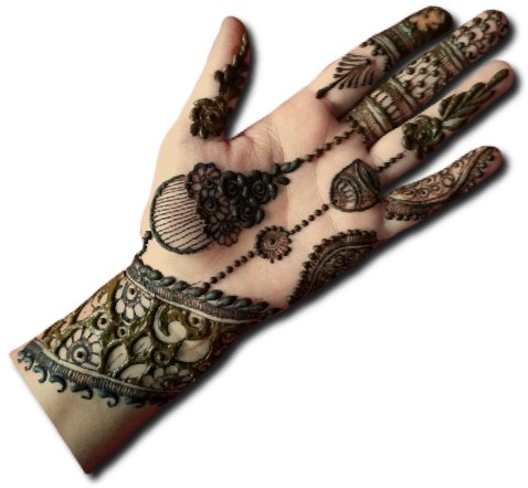 Unique Mehndi Design for front Hand