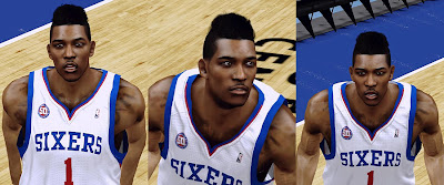 NBA 2K13 Nick Young New Hair Cyberface Patch Flat top