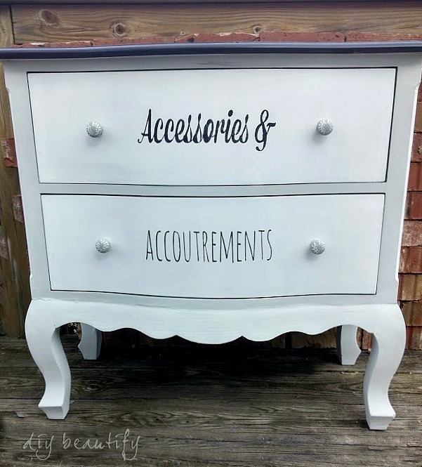painted dresser with chalky paint