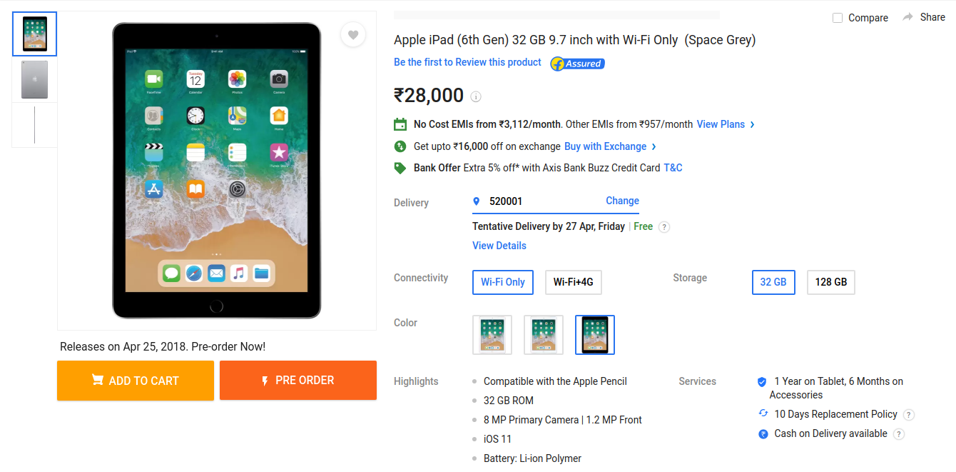 pre order buy apple ipad 6th gen on flipkart amazon in snapdeal rh lowestpriceonlineinindia blogspot com apple ipad quick start guide Apple Quick Start Guides