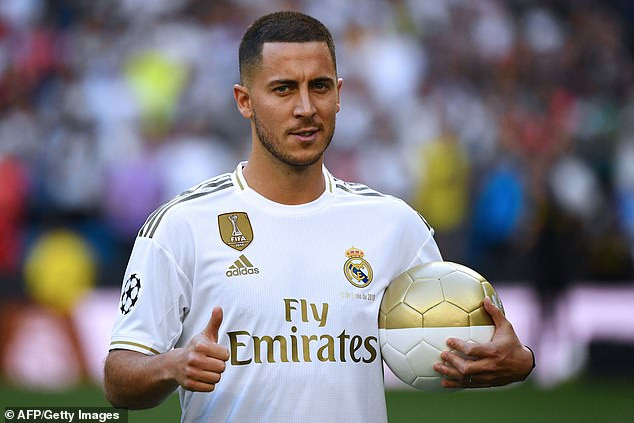 Real Madrid unveil Eden Hazard at Bernabeu after completing his £150m move from Chelsea