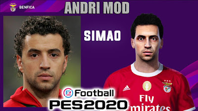 PES 2020 Faces Simão Sabrosa by Andri Mod
