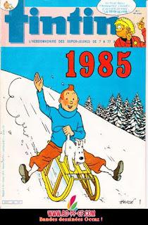 Couverture signée Hergé