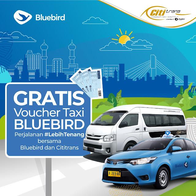 #BlueBird - #Promo Beli Tiket CitiTrans Gratis Voucher Taxi (s.d 31 Okt 2019)