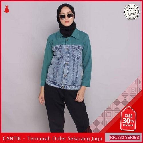 Jual RRJ330O85 Outerwear Jaket Twotone Wanita Sf Terbaru Trendy BMGShop