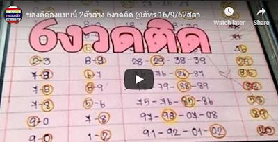 Thailand lottery Bangkok VIP number mr bond 16 September 2019