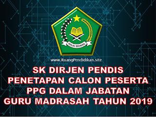 sk penetapan calon peserta ppg 2019