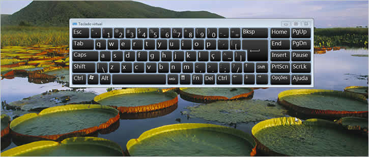 Teclado virtual iniciando junto com o Windows 7
