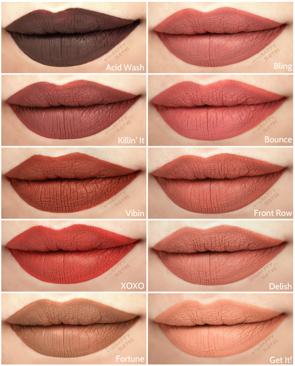 tarte tarteist quick dry matte paint review and swatches