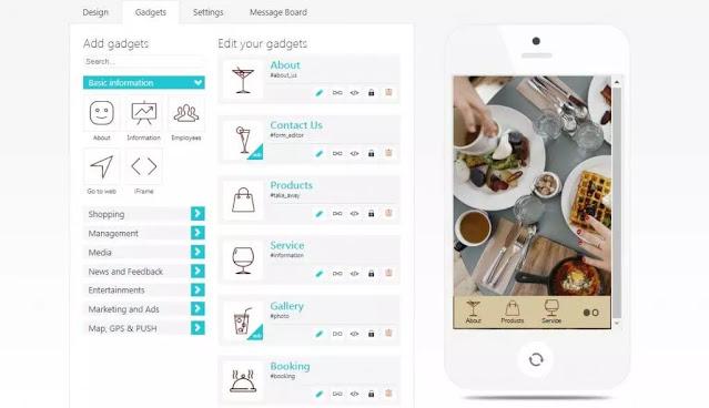 موقع لتصميم تطبيقات اندرويد