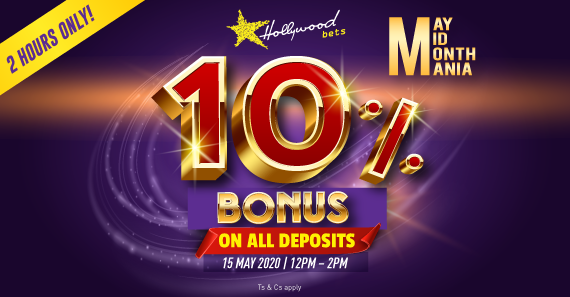 May Mid-Month Mania 10% Bonus