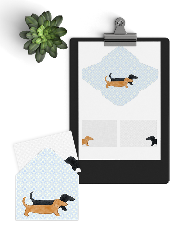 Dachshund printable stationary lovelui