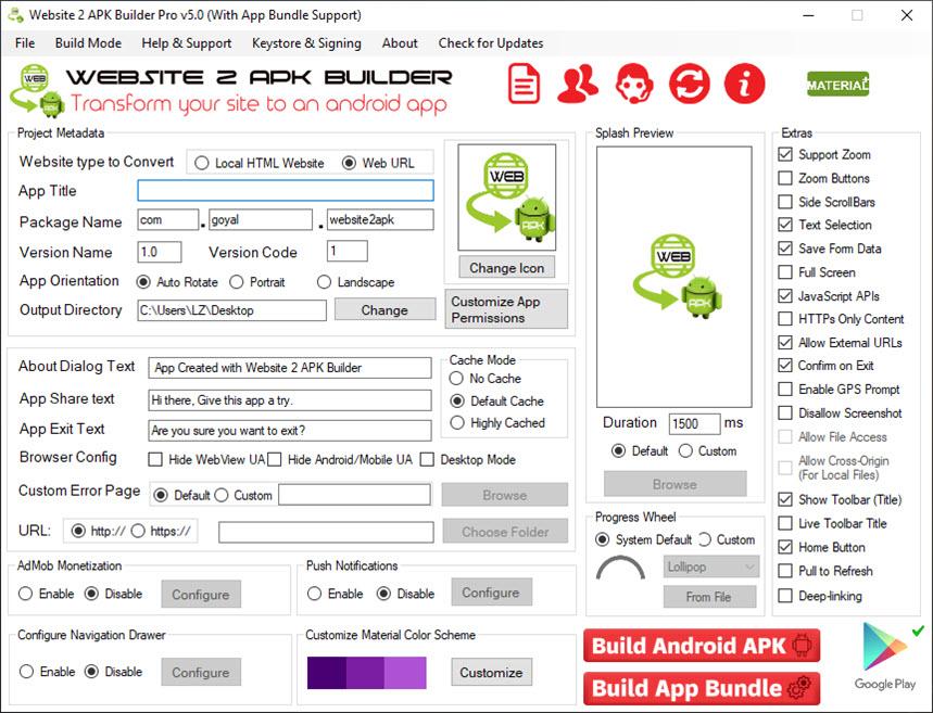 Website 2 APK Builder Pro 5.0