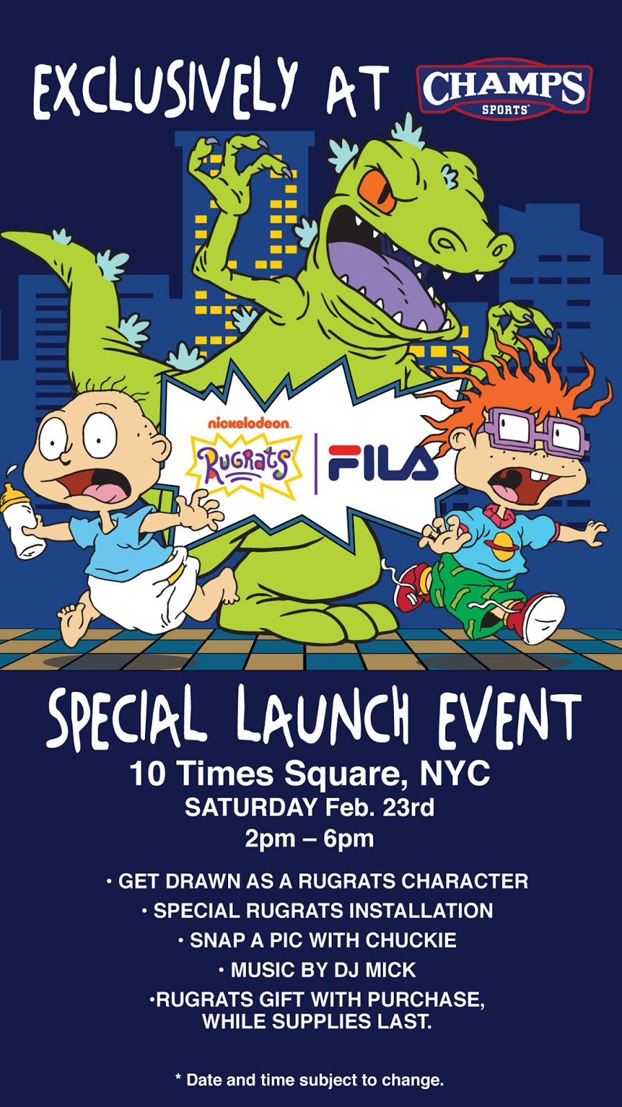 NickALive!  Champs Sports Launches Exclusive FILA x Rugrats Collection 44ce98f8a