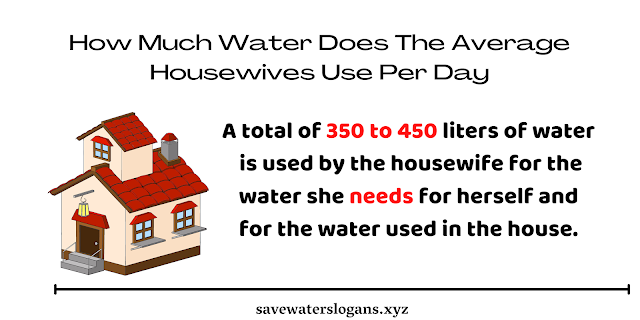 How Much Water Does The Average Housewives Use Per Day