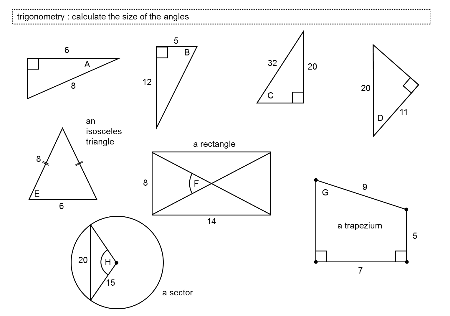 Printables Trigonometry Worksheet trigonometry in right angled triangles miss norledges storeroom calculate angle size don steward