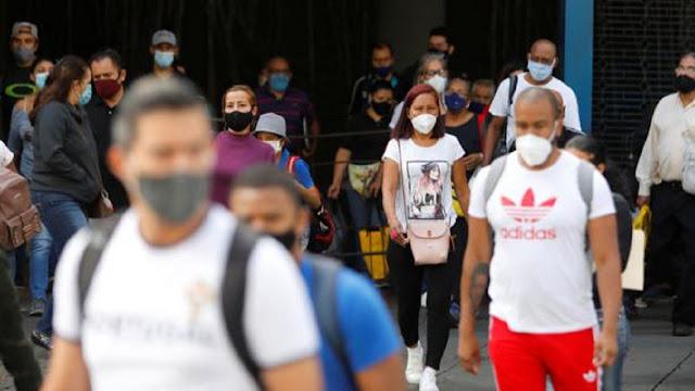 VENEZUELA SUMÓ EL DOMINGO 1.327 NUEVOS CASOS DE COVID-19 Y 15 MUERTES