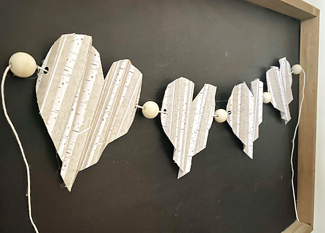 Easy Folded Heart Garland