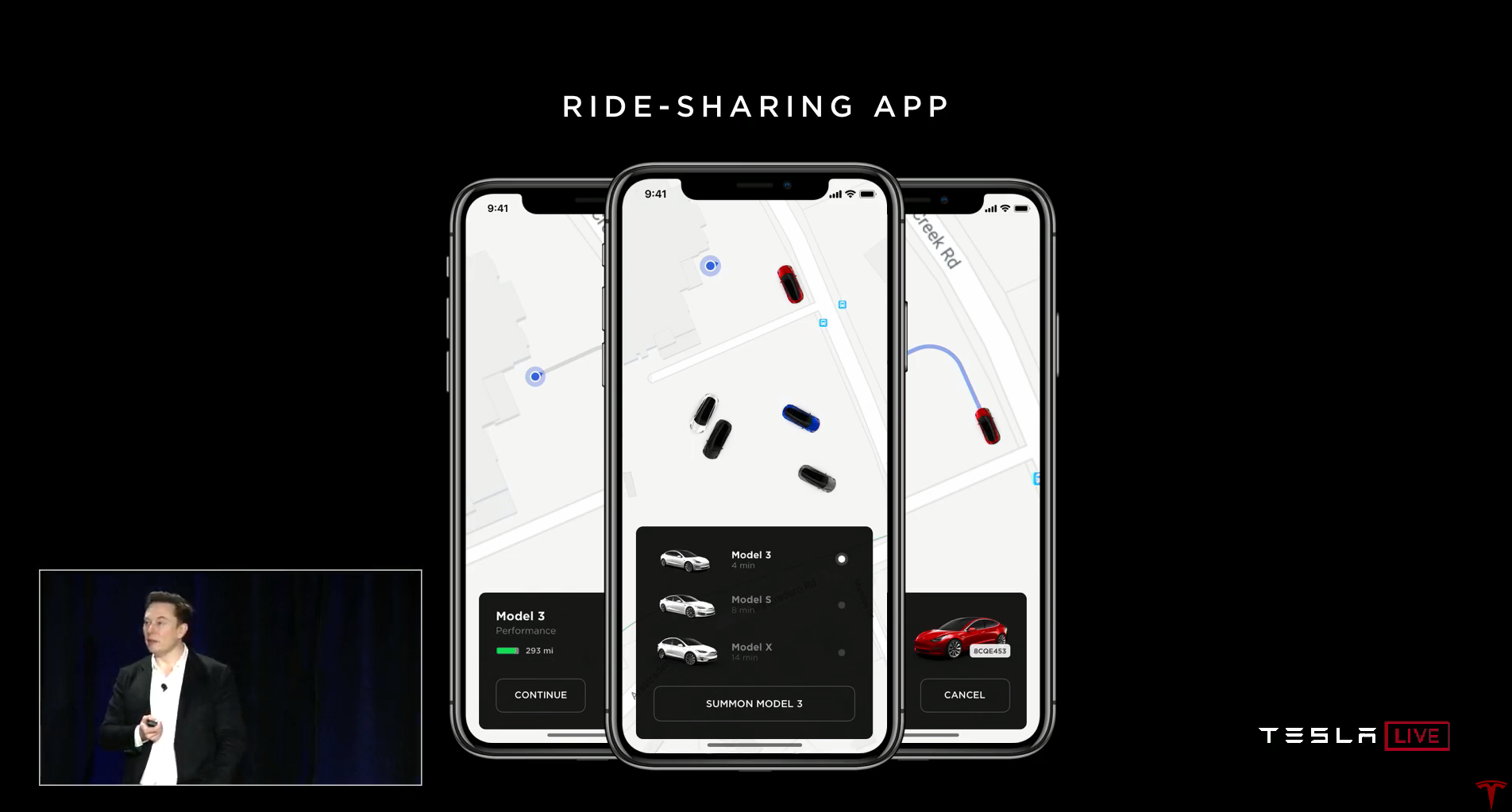 Tesla app robotaxi